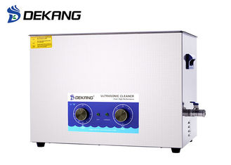 China 30L Mechanical Table Top Ultrasonic Cleaner Stainless Steel Die Casting With Heating supplier