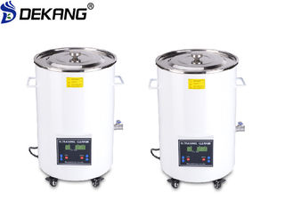 China 32L Cylindrical Ultrasonic Cleaning Machine 60W Digital Control Barrel Style supplier