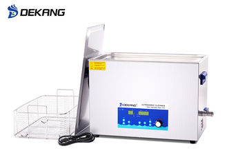 China Degas Digital Heated Ultrasonic Cleaning Bath Power Adjustable 30L 600W Stainless Steel Tank supplier
