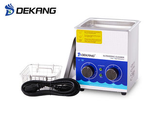 China 60W 1.3 Liter Laboratory Ultrasonic Cleaning Machine Stainless Steel Tank supplier