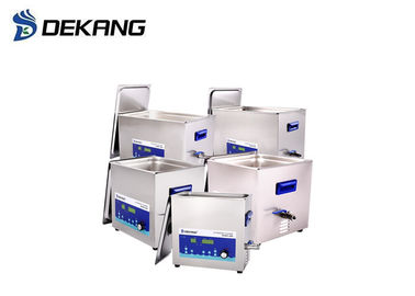 Power Adjustable Ultrasonic Cleaning Bath For Oil Grease Polishing Compound