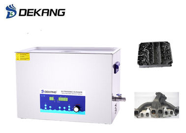 0-600W Power Adjustable Ultrasonic Cleaning Device , 30L Heated Ultrasonic Cleaner For Engine Parts
