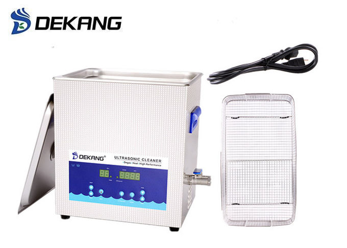 14 Liter Digital Display Ultrasonic Cleaning Equipment With Basket Drainage System