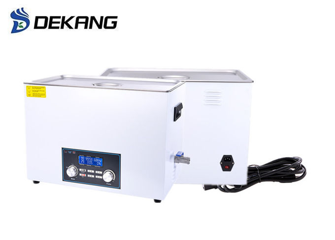 Household Stainless Steel Large Capacity Ultrasonic Cleaner 30L 600W Drainage
